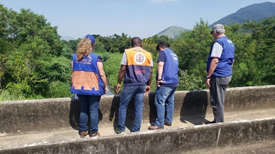 Defesa Civil de Mesquita participa  de inspeção na barragem de Gericinó