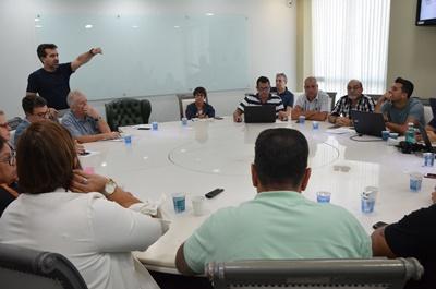 Prefeito Jorge Miranda se reúne com secretários municipais de Mesquita