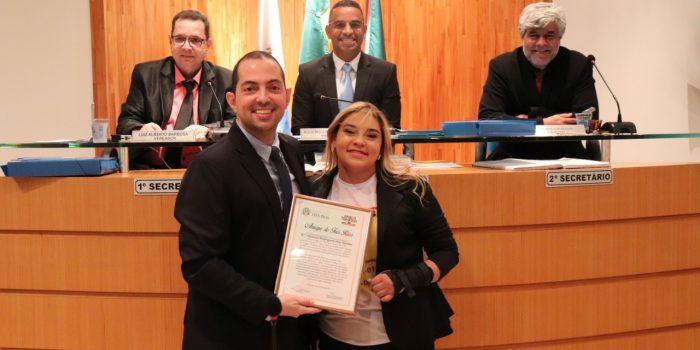Câmara de Vereadores concede título de Amiga de Três Rios a Valeska Rodrigues