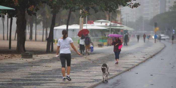 Chuva e temperatura baixa que atingem o Rio permanecem no fim de semana