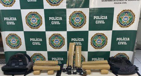 policia civil apreende drogas em Mesquita