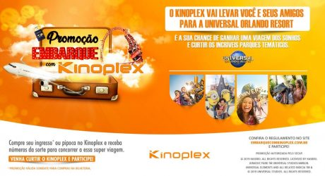 Kinoplex leva espectadores aos parques do Universal Orlando Resorts