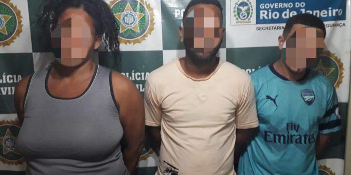 Policiais Civis prendem trio acusados de roubos em Belford Roxo