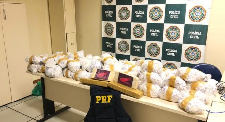 Mais de 40 quilos de droga são apreendidos em Teresópolis