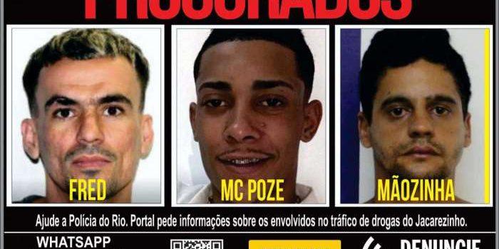 Disque Denúncia pede informações sobre MC Poze e investigados por ligação ao tráfico