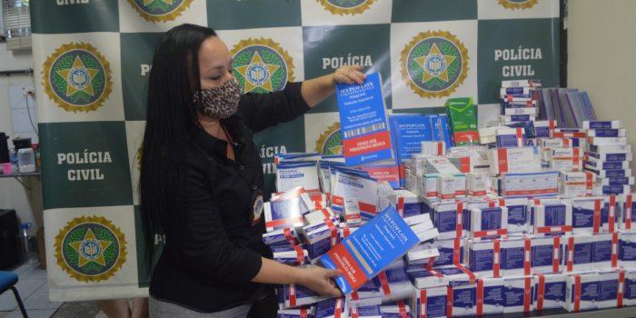 Polícia  apreende medicamentos avaliados em R$ 1 milhão desviados de hospitais públicos