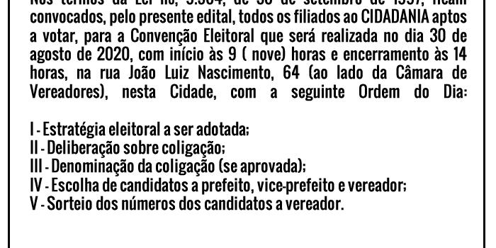 Publicação de Editais – 18/08/20