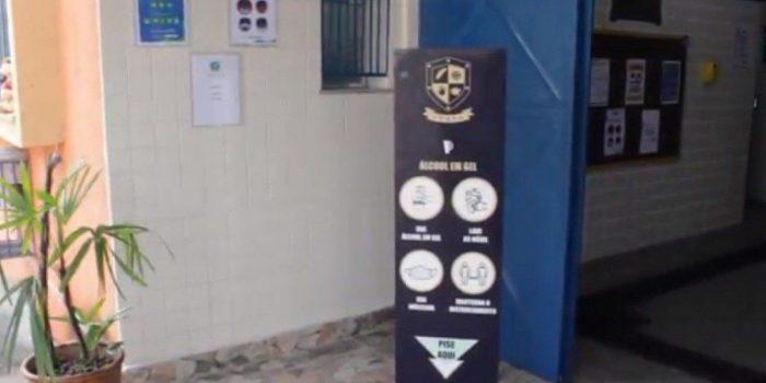 Escolas adotam protocolos sanitários de combate à covid-19